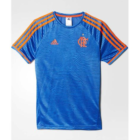 camisa-flamengo-treino-infantil-2016-adidas