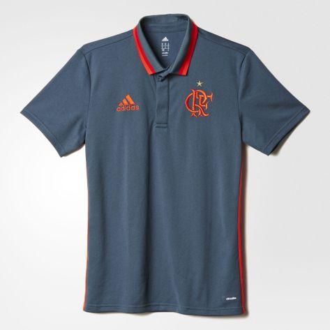 Polo-Flamengo-Cinza-Adidas-2016