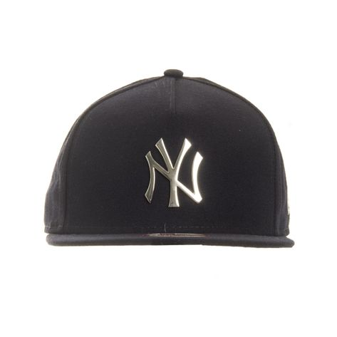 bone-new-era-snapback-a-frame-new-york-yankees-silver-metal-frontal