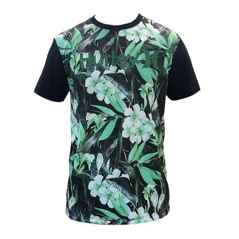 camiseta-hurley-floral-verde