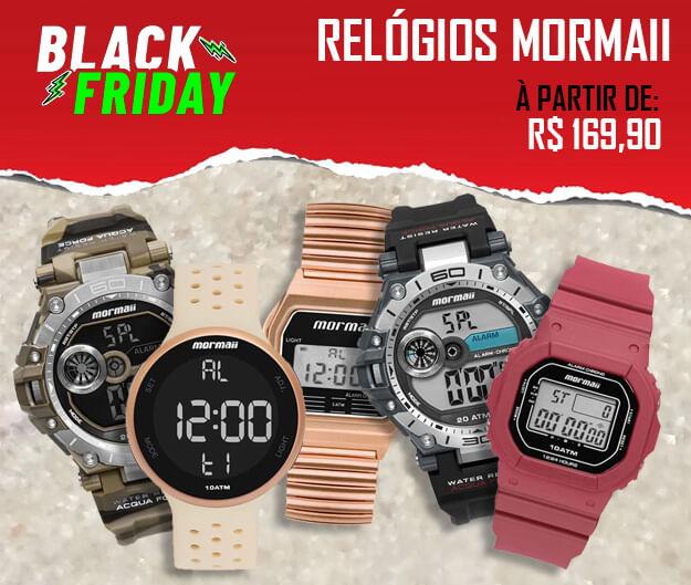 Relógios Mormaii Black Friday