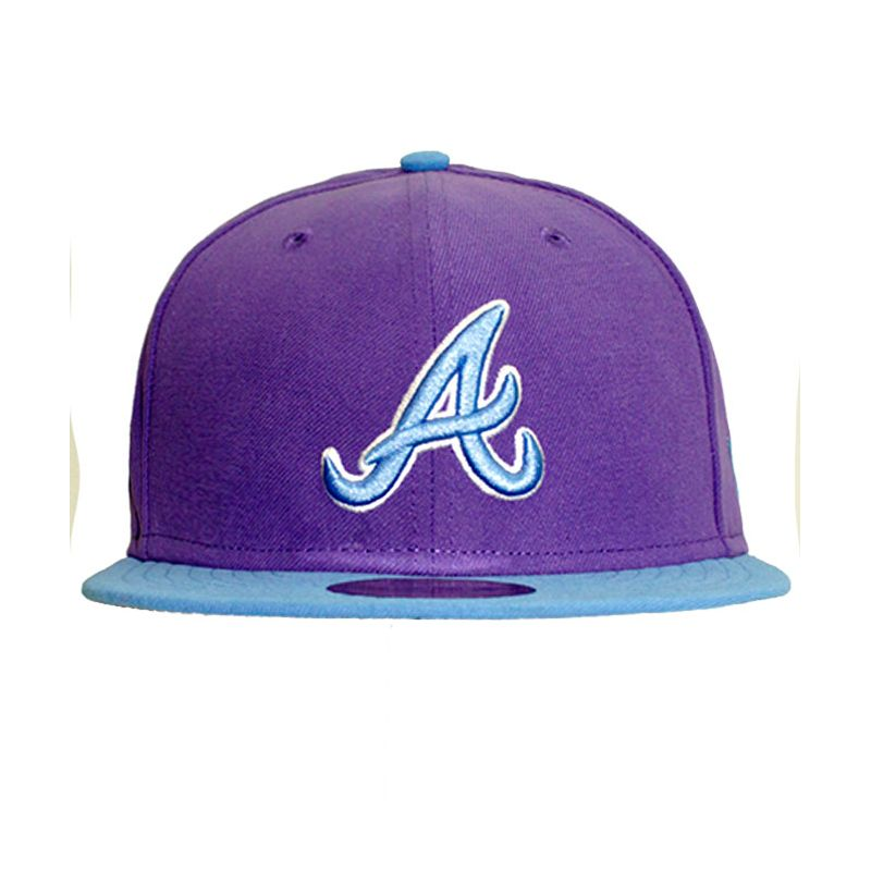 995a572dad807 Boné New Era Atlanta Braves Baycik Atlbra Purple - WQSurf