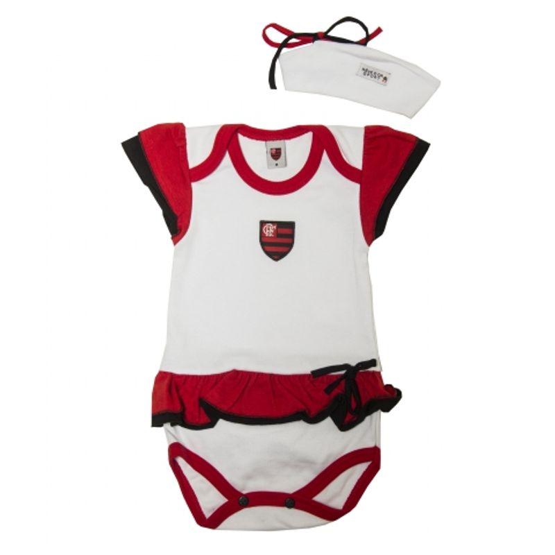 Kit Flamengo Body Vestido com Tiara - EspacoRubroNegro 2342599a18861