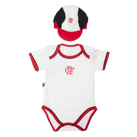 Kit-Flamengo-Body-e-Bone-Unissex-Branco
