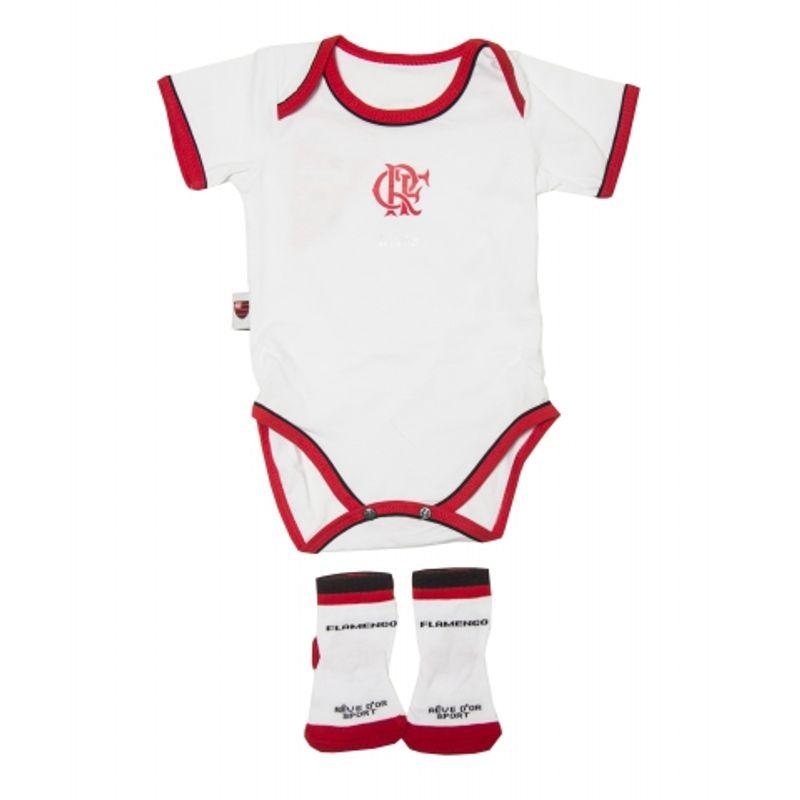 Kit-Flamengo-Body-e-Meia-Unissex-Branco