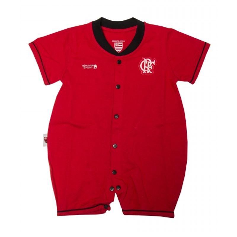 59f78a7814 Macacão Flamengo Curto Unissex Vermelho - EspacoRubroNegro