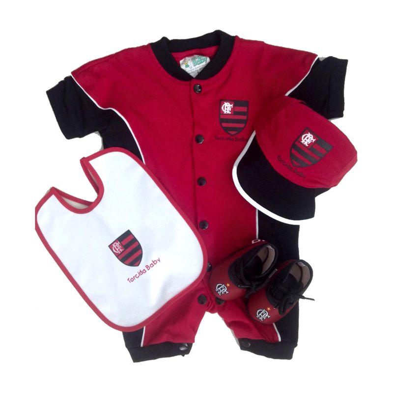 Kit-Flamengo-4-Pecas-Curto-Vermelho-Torcida-Baby 7ce28ba3ec68b