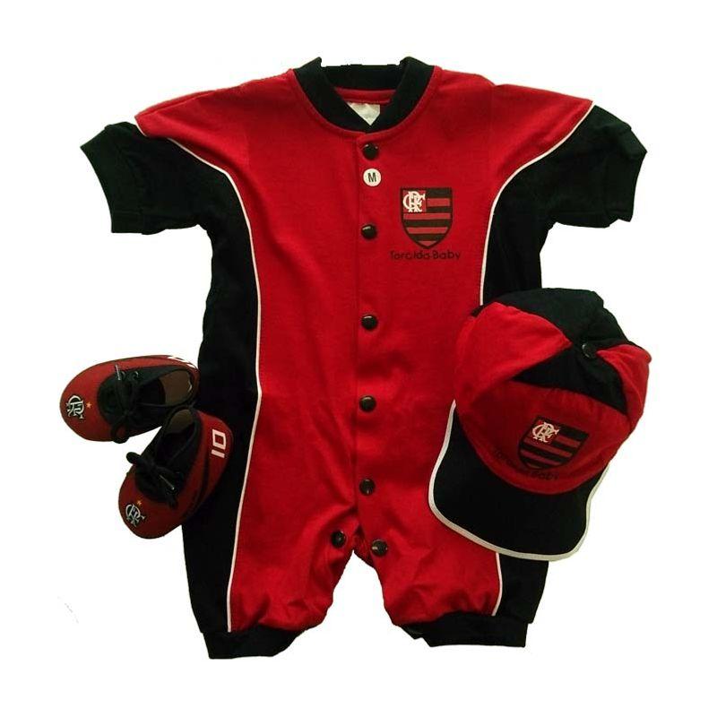 Kit Flamengo 3 Peças Curto Torcida Baby - EspacoRubroNegro b12a6116411c7