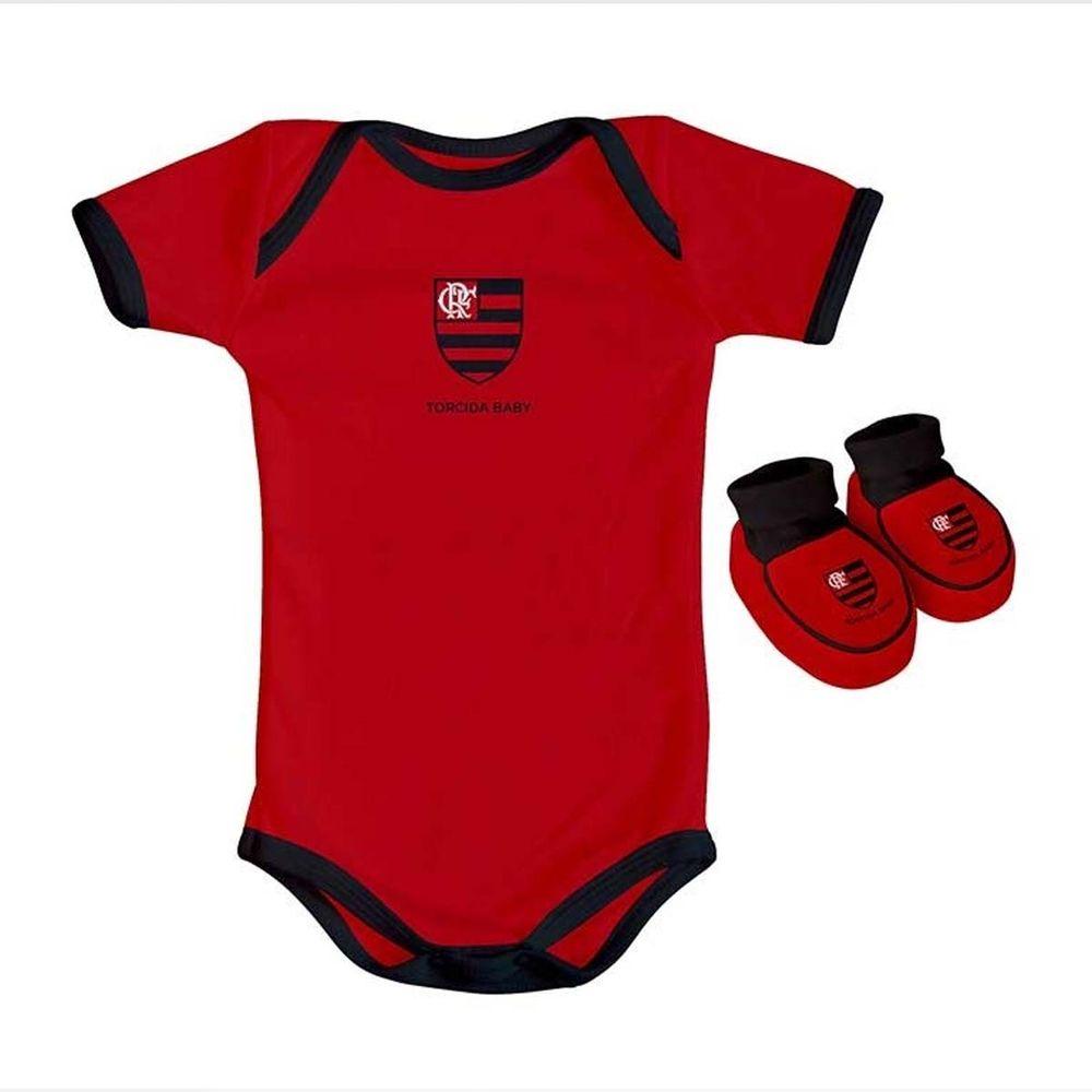 fdcc5913253738 Kit Flamengo Body Colorido Torcida Baby