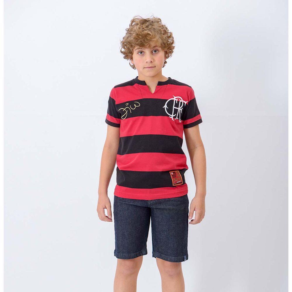 b9d45ecf78 Camisa Infantil Flamengo Tri Zico - EspacoRubroNegro