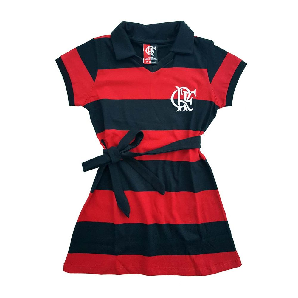 Vestido Infantil Flamengo Milly - EspacoRubroNegro 733882e1b382e