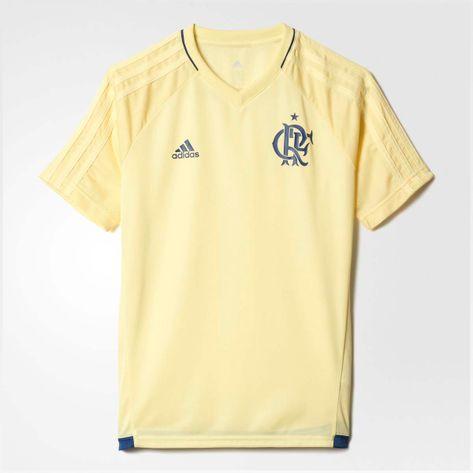 camisa-infantil-flamengo-treino-cr-adidas-amarelo-frente