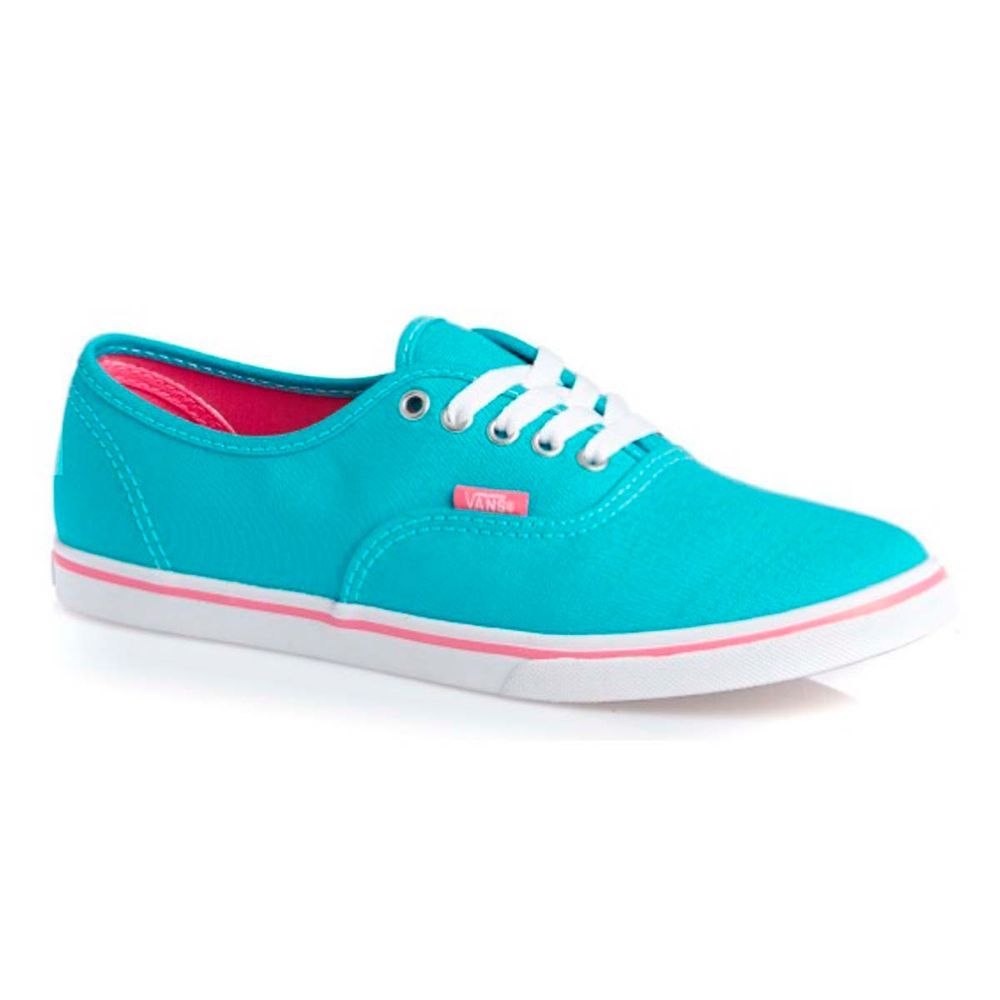 64956fd3101c5 Tênis Vans Authentic Lo Pro (Pop) Blue Curacao strawberry Pink - WQSurf