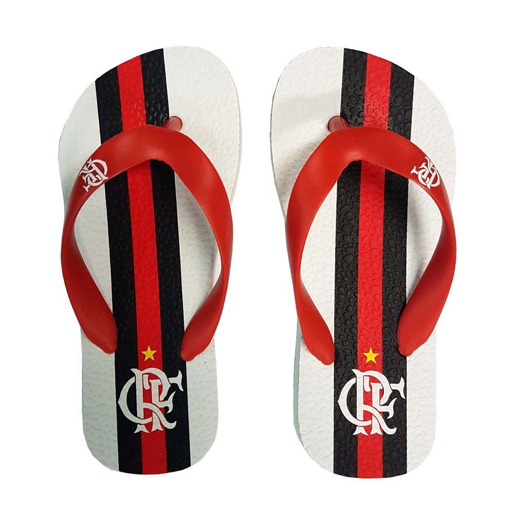 5b3ccf96d Chinelo Flamengo Infantil Manto 2 2017 Branco - EspacoRubroNegro