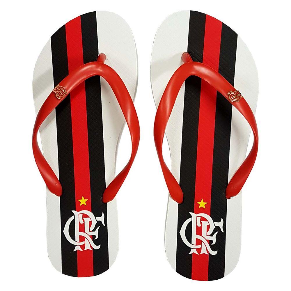 Chinelo Flamengo Feminino Slim Manto 2 Branco - EspacoRubroNegro 6e899ad0f40f7