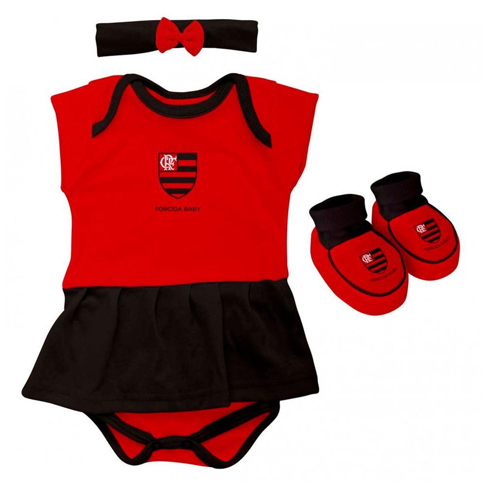 c92186cef2 Kit Flamengo Body Menina Torcida Baby - EspacoRubroNegro