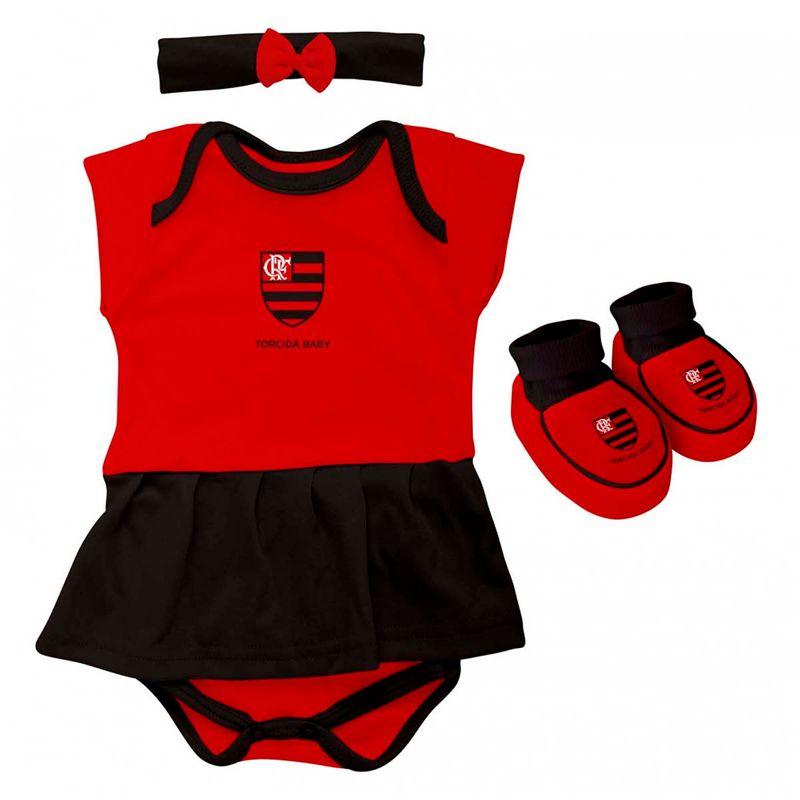 c88eb93e8a Body Flamengo Vestido Brasil Times Torcida Baby - EspacoRubroNegro