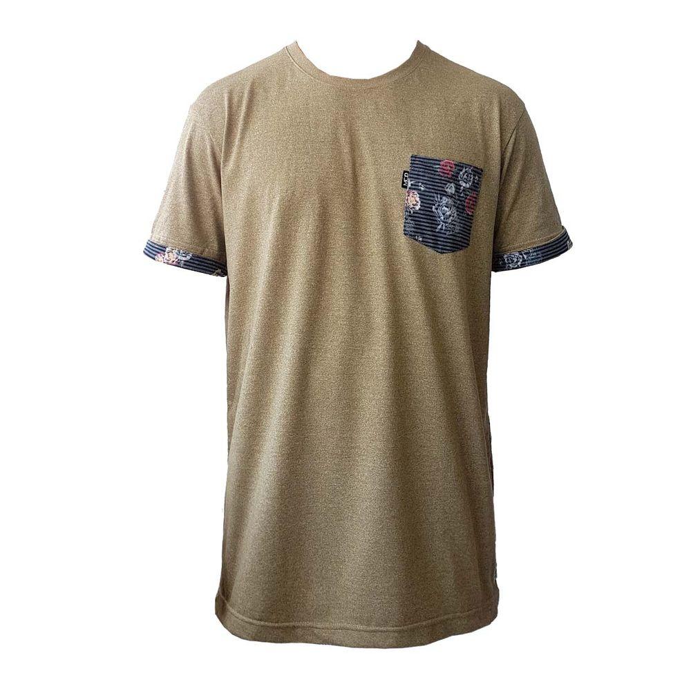 Camiseta MCD Especial Flower Fish Bege - WQSurf edb2c78acd