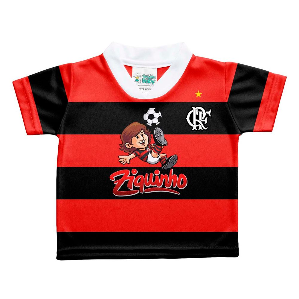 Camisa Flamengo Ziquinho Torcida Baby 0 a 12 meses - EspacoRubroNegro f6762e2a0ea67