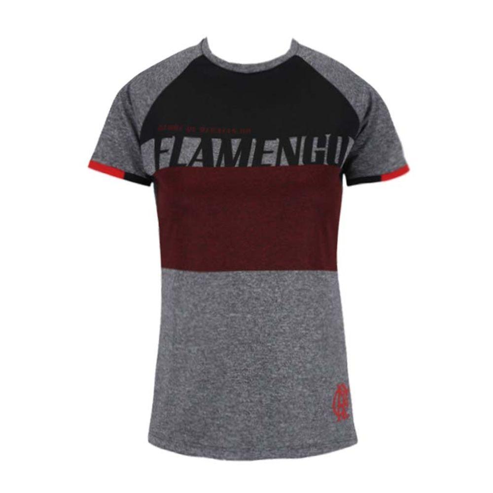3578bb1d093 Camisa Flamengo Feminina Team Raglan - EspacoRubroNegro