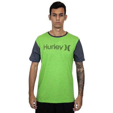CAMISETA-HURLEY-PUSH-THROUGH-VERDE