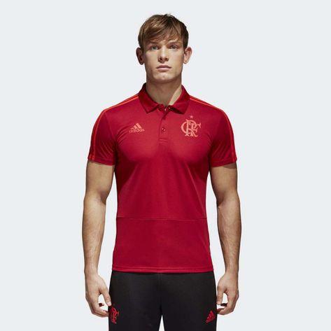 c6ad2073a10 Camisa-Polo-Flamengo-Viagem-Vermelha-Adidas-2018