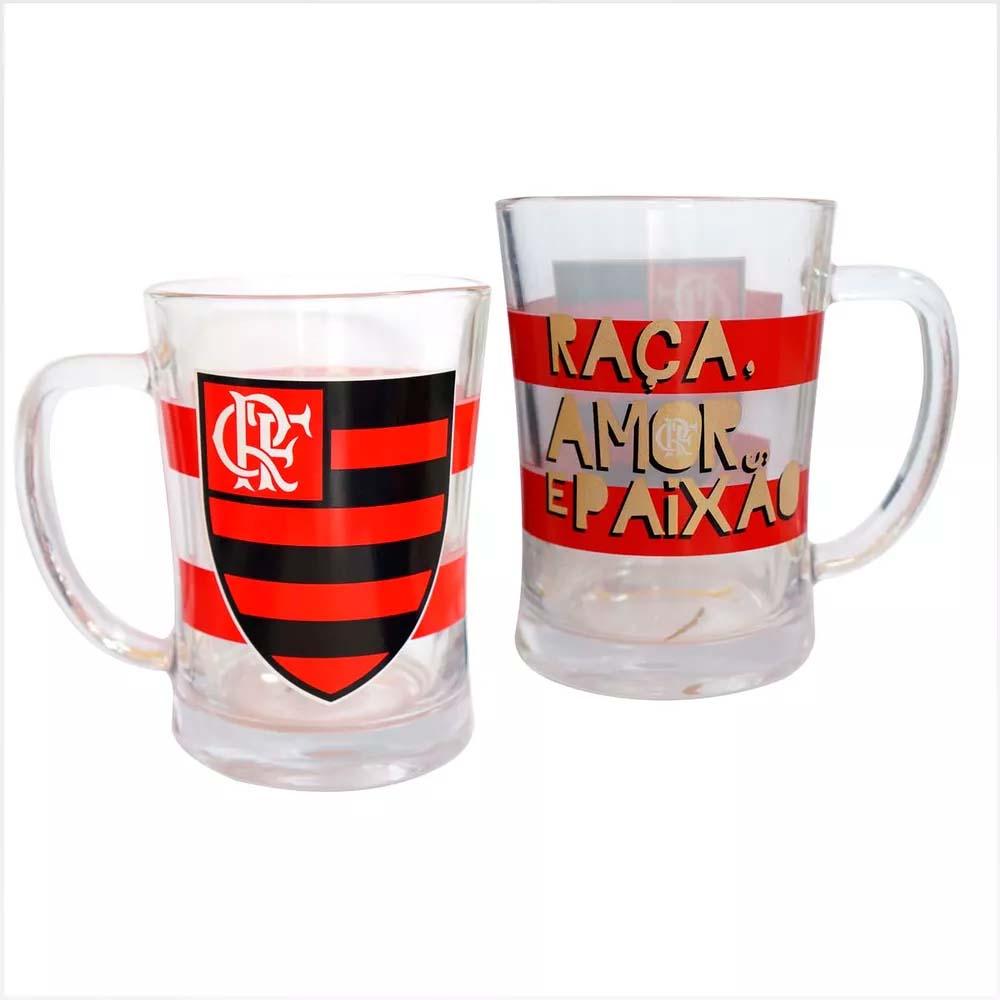 ba4204e687 Canecão De Vidro Flamengo - EspacoRubroNegro