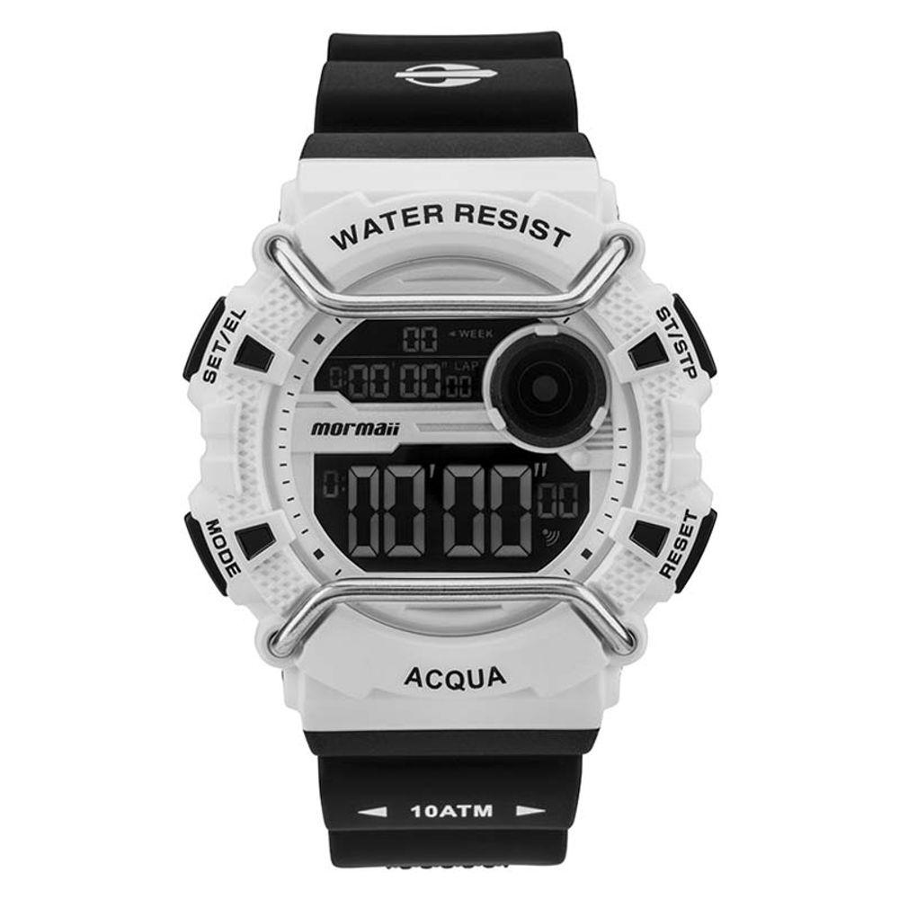 6585838d19bf6 Relógio Mormaii MONXB 8B Preto e Branco - WQSurf