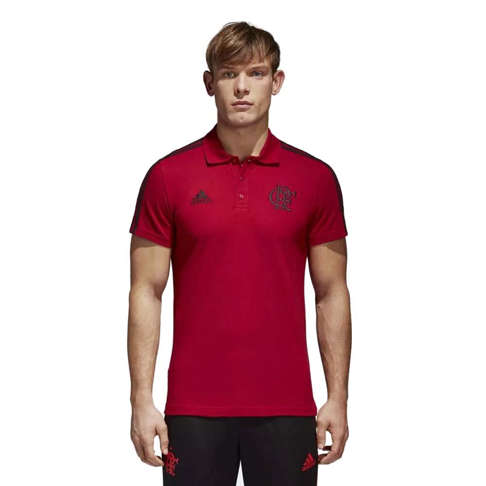 Camisa Polo Flamengo 3S 2018 Vermelha - EspacoRubroNegro d0b0ad28cf8f1
