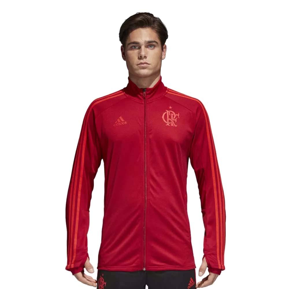 81f8e0e89c2b5 Jaqueta Flamengo Treino Adidas 2018 Vermelha - EspacoRubroNegro