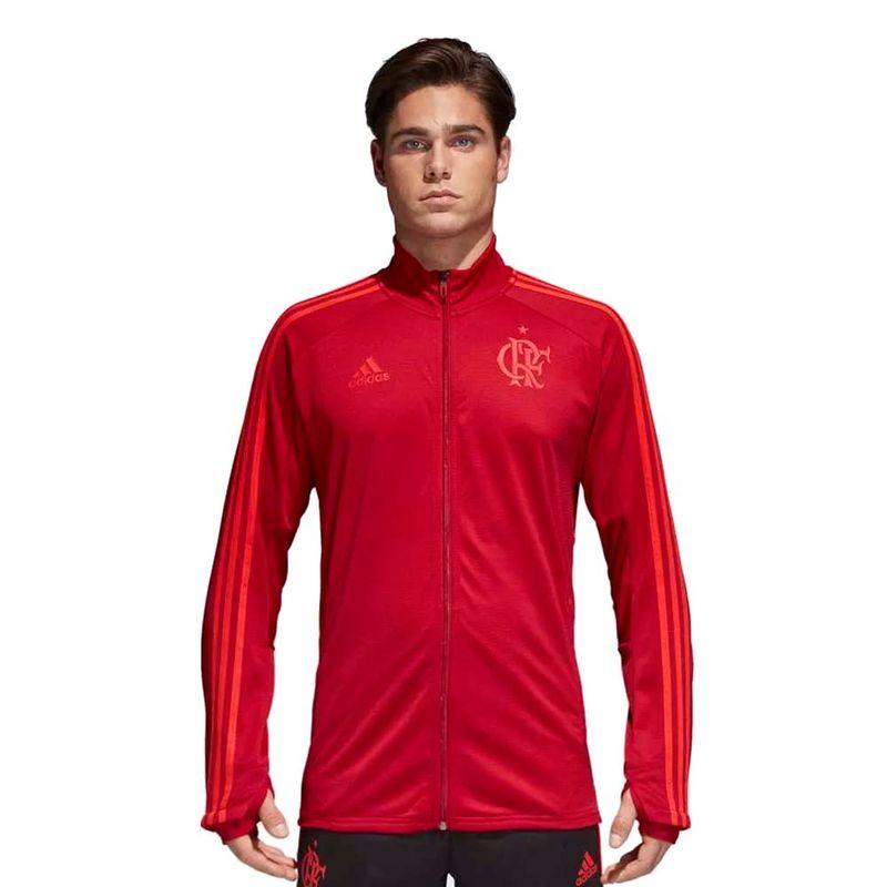 Jaqueta-Flamengo-Treino-Adidas-2018-Vermelha