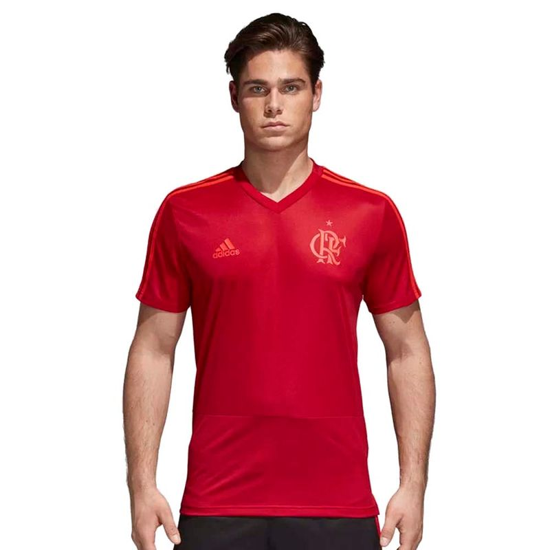 Camisa-Flamengo-Treino-Vermelha-Adidas-2018