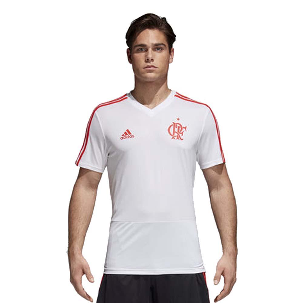 Camisa Flamengo Treino Branca Adidas 2018 - EspacoRubroNegro e307dfae7d326