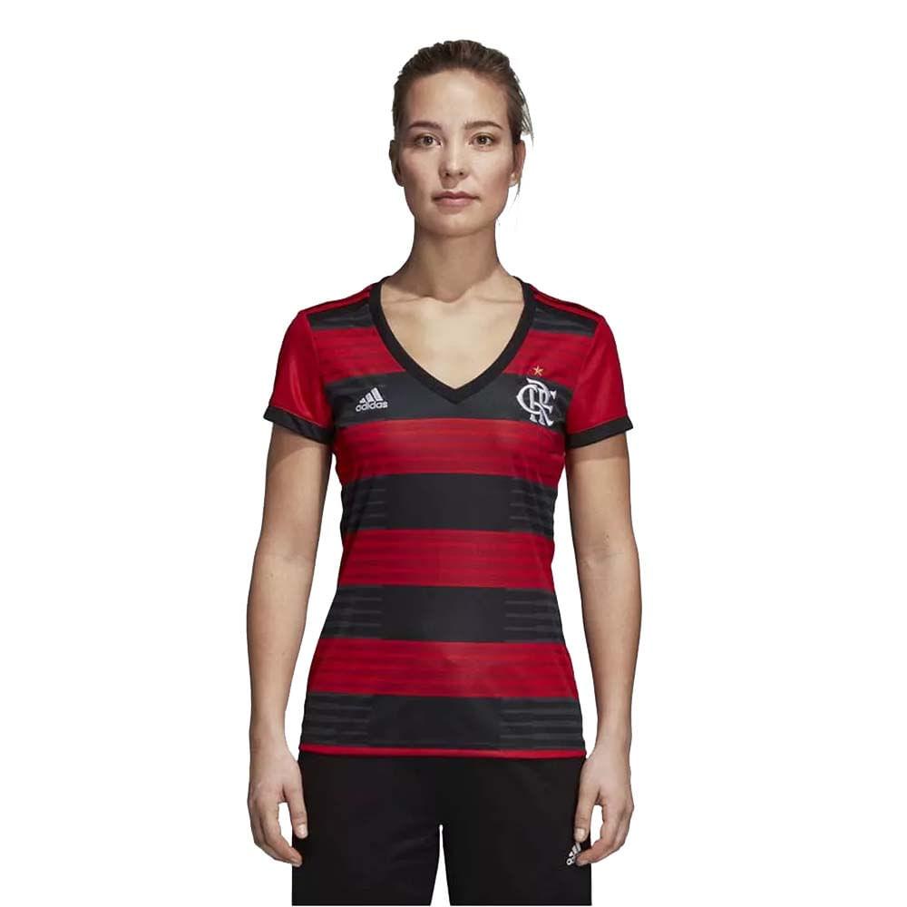 67c8c81e3c28e Camisa Flamengo Feminina Jogo 1 Adidas 2018 - EspacoRubroNegro