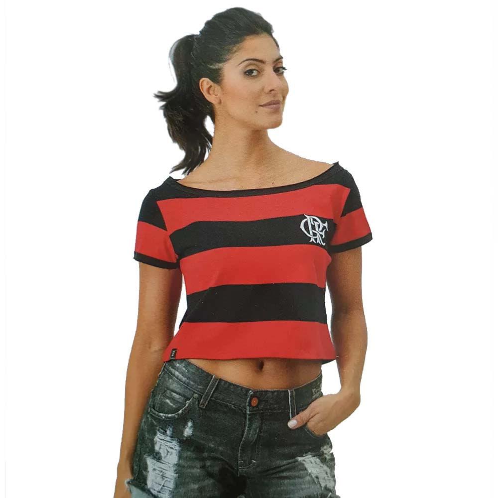 aa1fa54ed Blusa Feminina Flamengo Vibe Cropped - EspacoRubroNegro