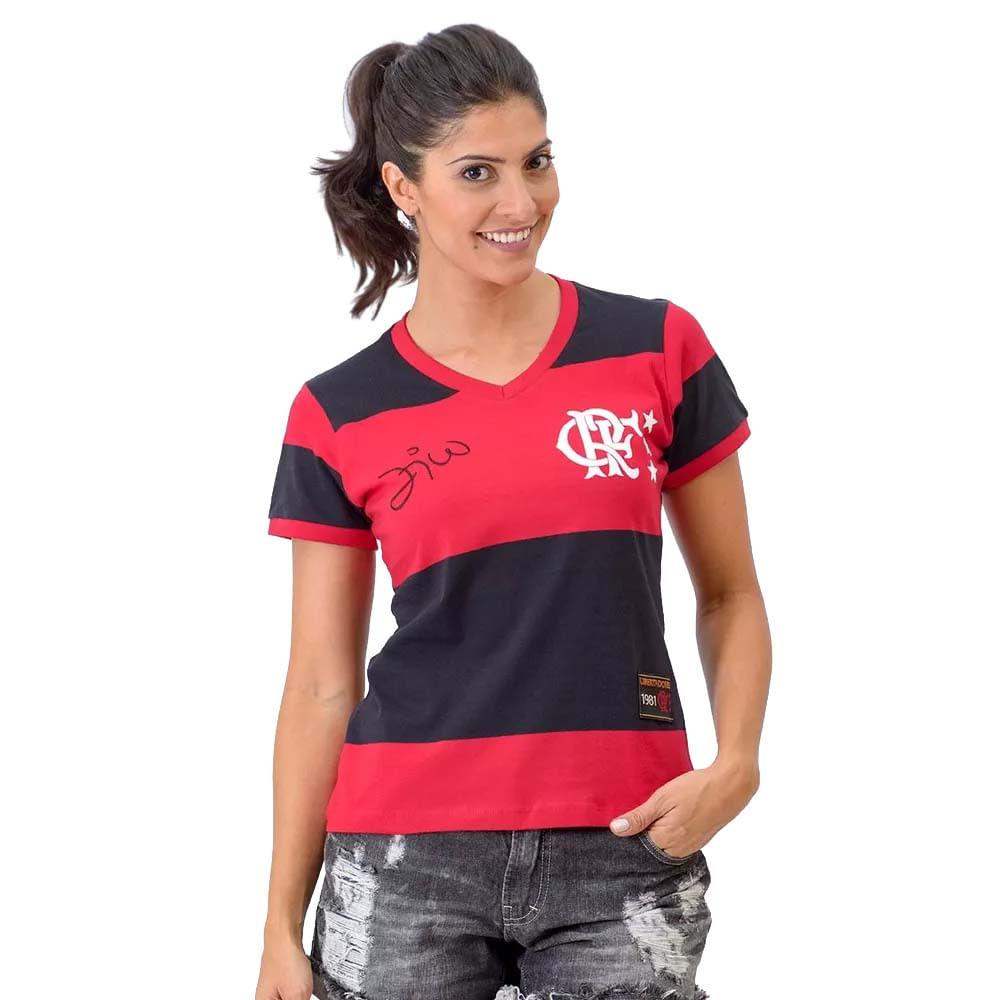 554308ae8f Camisa Feminina Fla Libertadores Zico - EspacoRubroNegro