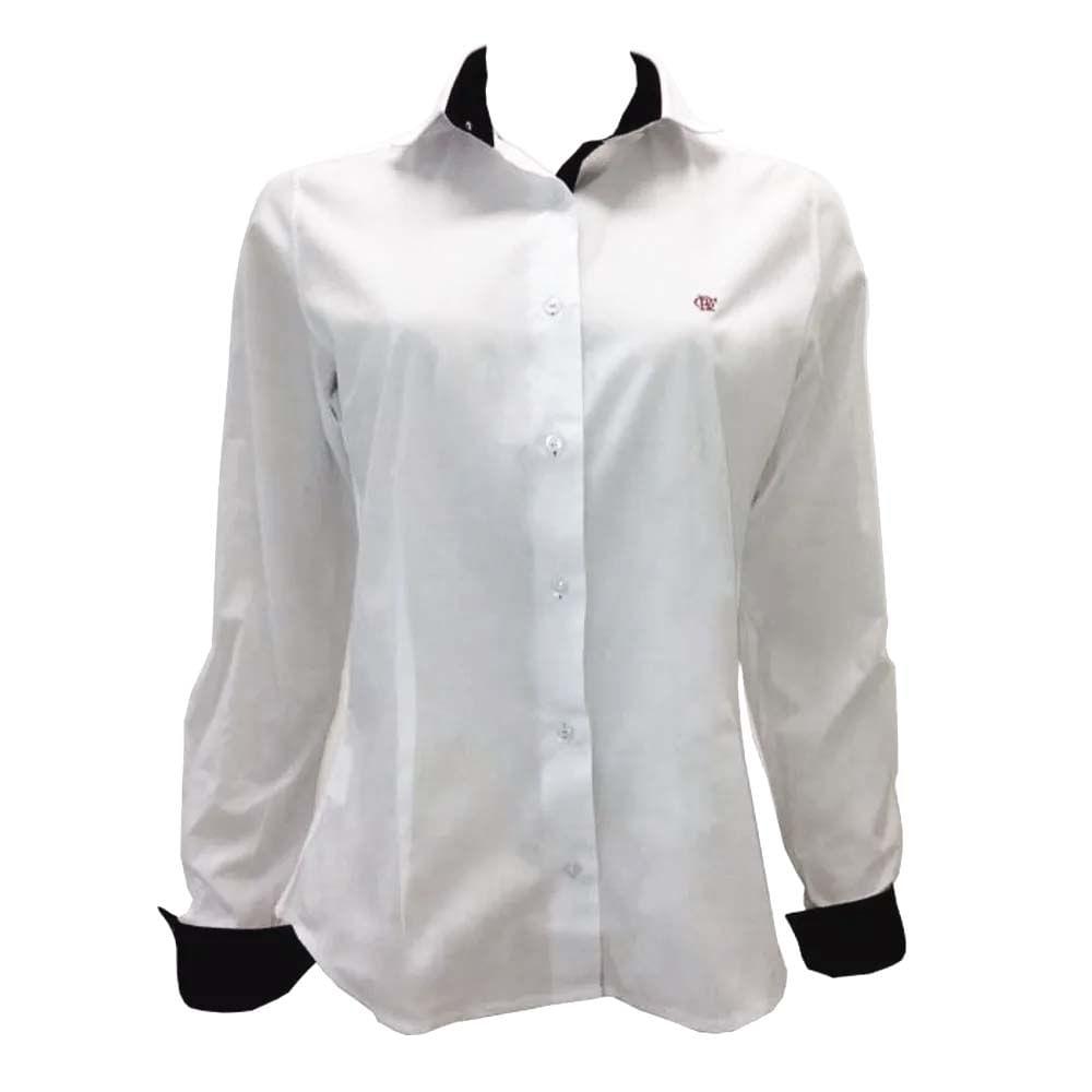 94e6904c1d Camisa Feminina M/L Fla Branca - EspacoRubroNegro