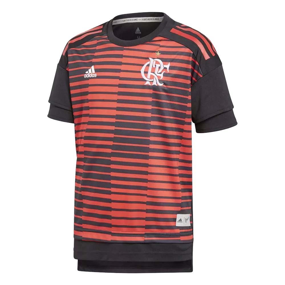 fc9919483a Camisa Flamengo Infantil Pré-Jogo Adidas 2018 - EspacoRubroNegro