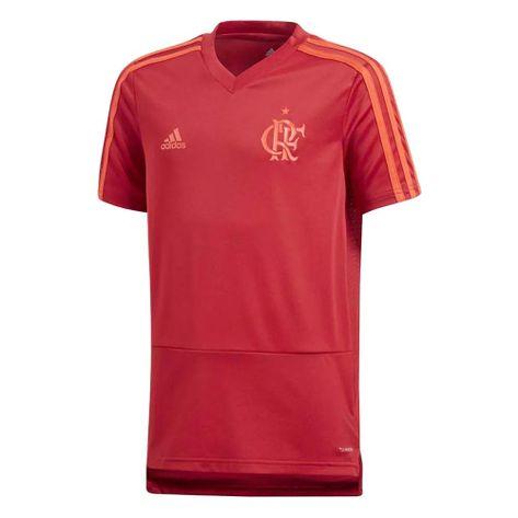 Camisa-Infantil-Flamengo-Treino-Vermelha-Adidas-2018