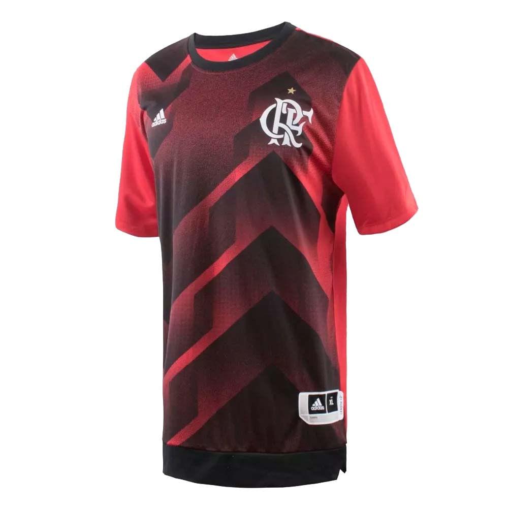 Camisa Flamengo Pré-Jogo 1 Adidas 2017 - EspacoRubroNegro 82e844494a918