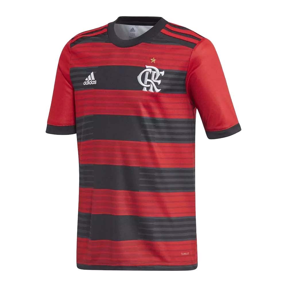 8b65914611245 Camisa Flamengo Infantil Jogo 1 Adidas 2018 - EspacoRubroNegro