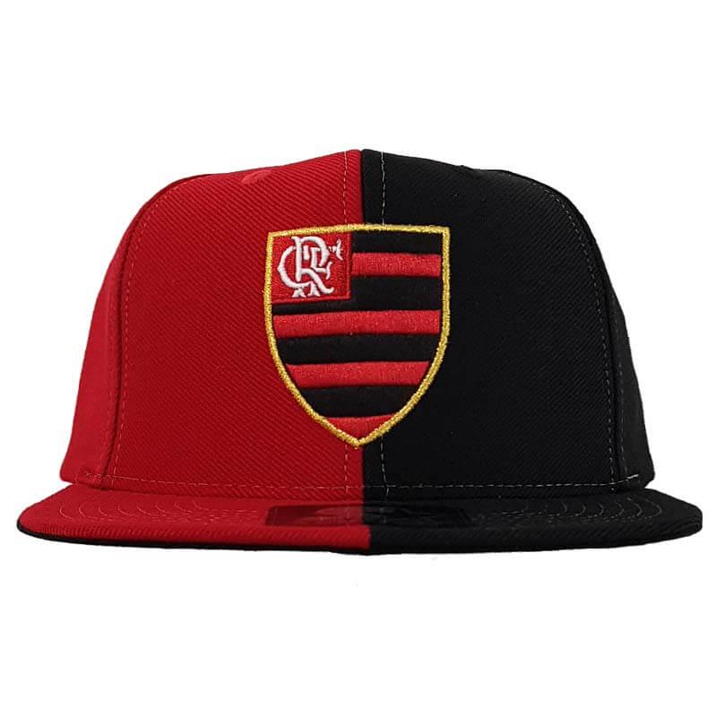 Boné Flamengo 6G Snap Bicolor Logo Oficial Starter - EspacoRubroNegro 0f90d556d94