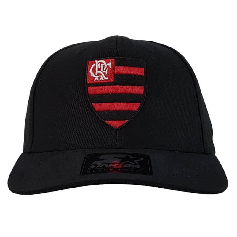 Boné Flamengo 6G Snap Black Logo Oficial Starter - EspacoRubroNegro 23d20e63a2f