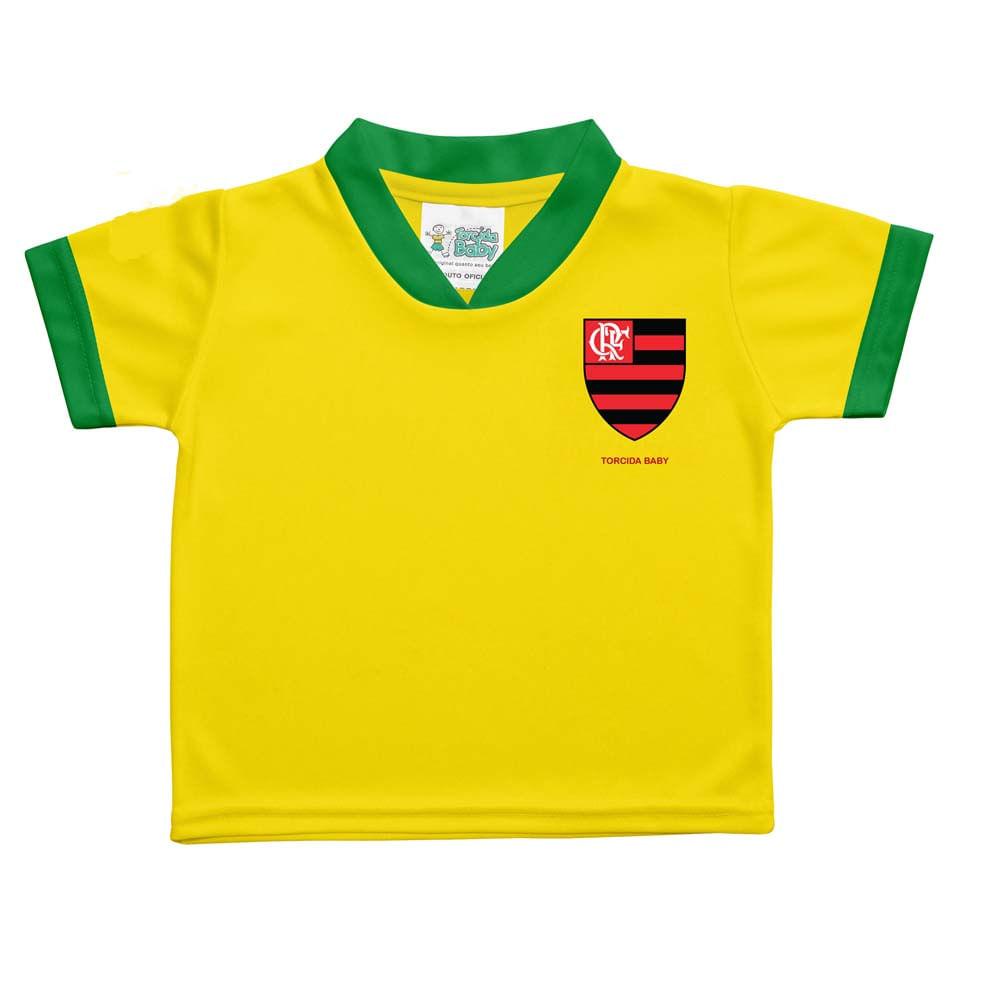Camisa Flamengo Brasil Bebê Torcida Baby - EspacoRubroNegro c87db3c7f34e8