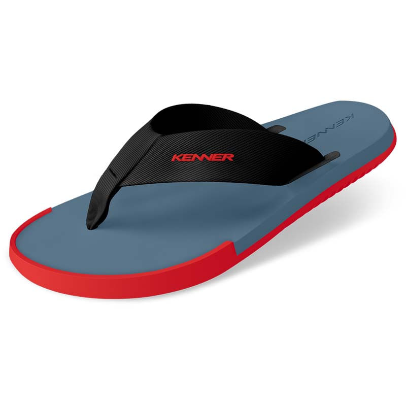Sandália Kenner Kick-S Colors Cinza   Vermelha - WQSurf 2cf7cb70b3b