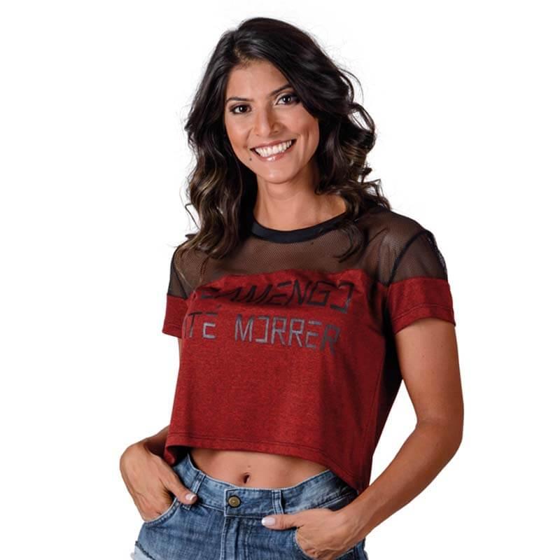 Cropped Flamengo Forever Braziline - EspacoRubroNegro 2878f131162dd