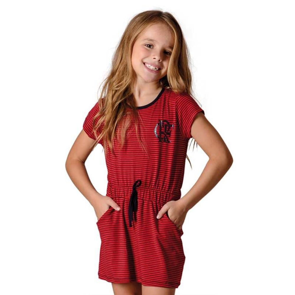 7dabde319 Vestido Flamengo Infantil Noob Braziline - EspacoRubroNegro