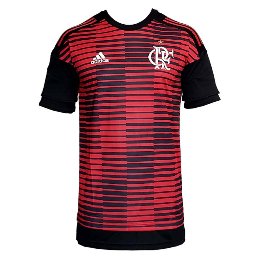 Camisa Flamengo Pré-Jogo Adidas 2018 - EspacoRubroNegro d61864fcef540