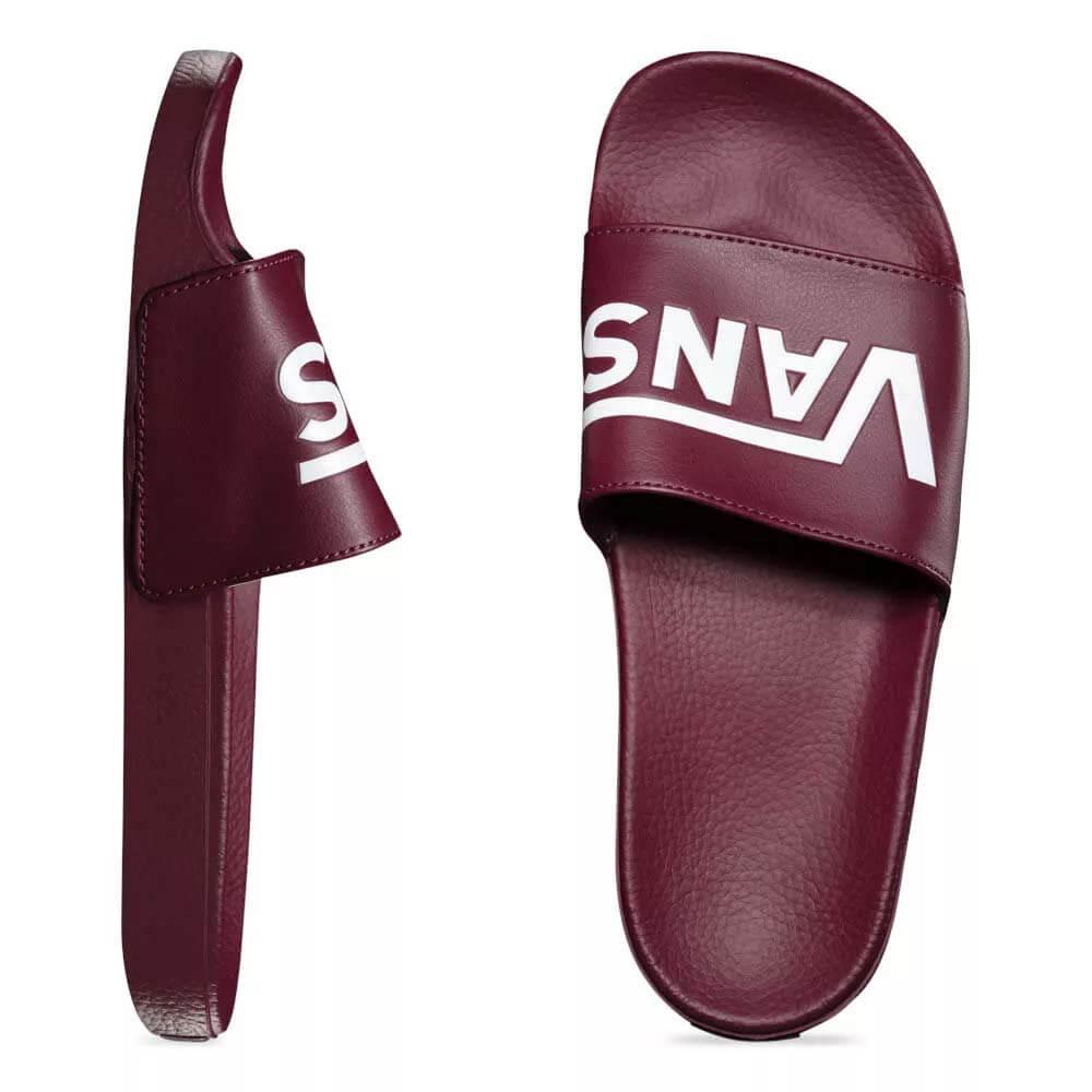 Chinelo Vans Slide-On Port Royale Vinho VNBM33TY4QU - WQSurf 4a55d9642878c