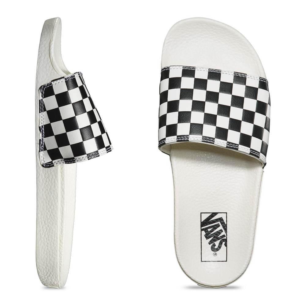 4e3dc718a09 Chinelo Vans Slide-On White   Black VNB004LG27K - WQSurf